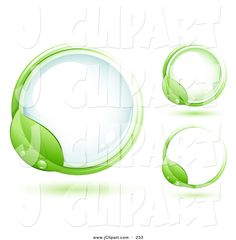 Green Leaf Wet With Dew Circling A Round Blue Glass Orb