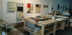 encaustic studio jeff hirst - I might try and build these tables.
