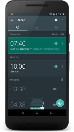 Sleep as Android v20180110 build 1815 [Unlocked]   Sleep as Android v20180110 build 1815 [Unlocked] Requirements:4.0 Overview:Smart alarm clock with sleep cycle tracking. Wakes you gently in optimal moment for pleasant mornings.  Features: - Sleep cycle tracking with smart wake up uses your phone's or wearable sensors (2 weeks trial) - Optional Pebble Android Wear or Galaxy Gear smart watch tracking - Google Fit S Health integration - Smart bulb control with Philips HUE - Sleep deficit deep…