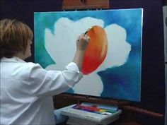 Acrylic Painting Techniques - How to Paint Flowers - Parrot Tulip