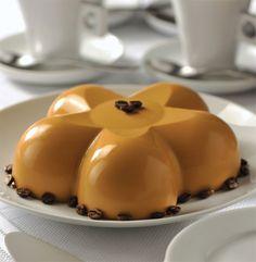 Gelatina de café y queso crema
