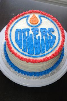 Edmonton oilers cake Sweet Sweet Hockey Pinterest Cake