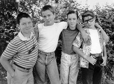 CUENTA CONMIGO ● Jerry O'Connell (Vern), River Phoenix (Chris), Wil Wheaton (Gordie) i Corey Feldman (Teddy).