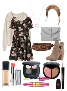 """Lydia Martin inspired outfit"" by lexi-tolhurst ❤ liked on Polyvore featuring La Garçonne Moderne, Ash, Meli Melo, Uniqlo, MAC Cosmetics, Revlon, Bare Escentuals, Napoleon Perdis, Bobbi Brown Cosmetics and Maybelline"