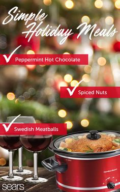 Of course, no holiday gathering would be complete without an amazing spread of delicious meals! Easy to use and easy to love, a Hamilton Beach Slow Cooker is a simple way to cook wonderful Christmas meals. Ideally suited for larger meals, the stoneware po