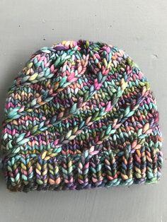 Mega Spun by Kali Berg, knitted by Pluie | malabrigo Rasta in Arco Iris