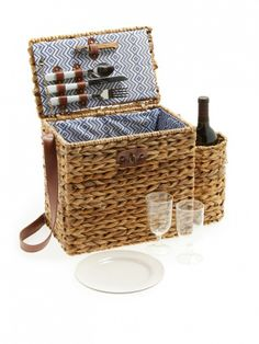The most stylish wicker picnic basket around // Sunnylife Wicker Picnic Basket