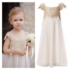 2015 Vintage Flower Girl Dresses for Bohemia Wedding Cheap Floor... ❤ liked on Polyvore featuring kids