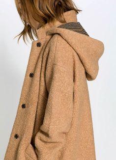 Light Brown Warm Winter Coat . fashionturkiye.com