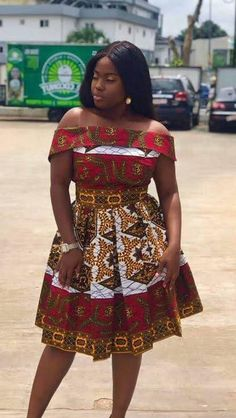 This beautiful dress is suitable for prom, weddings and birthday party events. You can add your design, customization or personalize it. It can be made in different colors of fabric of your choice, style and design. You can also send us pictures of a design of your choice , for custom order. We Short Ankara Dresses, Short African Dresses, Latest African Fashion Dresses, African Print Fashion, Africa Fashion, Ankara Gowns, African Style Clothing, Ankara Dress Styles, Short Gowns