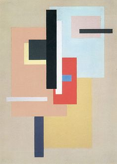 Willi Baumeister - Planar Tension with Red, 1926