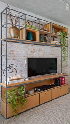 House Design, Industrial Design Furniture, Home Deco, Living Room Partition Design, Shelving Design, Home Interior Design, Pinterest Room Decor, Living Room Decor Inspiration, Minimalist Home Interior