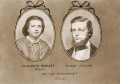 Engagement card of Henry Jenkins and Elizabeth Payne in 1862
