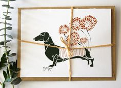 Set of Dachshund Notecards  Dog Notecards by dottiedogdrawings, $25.00