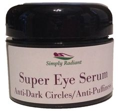 Super Eye Serum - Anti-Dark Circle, Anti-Puffiness, Brightener - 1.0 oz. Hydrates, Lifts, Firms and Smooths #design #greatgifts    https://SimplyRadiantBeauty.etsy.com  Love the way your face feels!