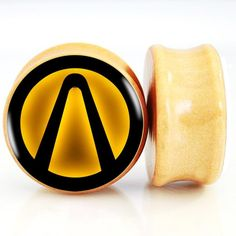 Find More Body Jewelry Information about 2pcs/lot Lighted Borderlands Logo Sign Nature Wood Ear Plugs And Flesh Tunnels Ear Gauge Stretching Expander 6mm 25mm,High Quality wood ear plug,China ear plugs Suppliers, Cheap ear gauges from DreamFire Store on Aliexpress.com
