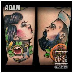 Done by Adam from Last Drakkar tattoo studio in Warsaw. #tattoo #coupletattoo #girltattoo  #colortattoo #realistictattoo #eternalink #oldschool #oldschooltattoo #newschooltattoo #neotradtattoo #colorfulltattoo #tatuazwarszawa  #chmielna26