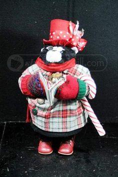 shopgoodwill.com: Cute Apple Whimseys Christmas Caroling Cat