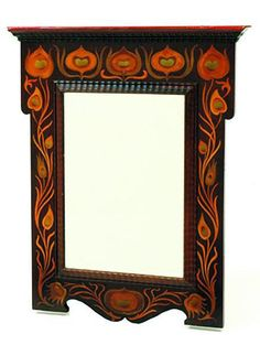 French Art Nouveau mirror with a rectangular bevelled edged…