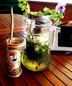 """El """"Tereré"""", es la bebida oficial del Paraguay consistente en una mezcla de agua fria y hierbas refrescantes machacadas, las cuales se ceban en la guampa que contiene yerba mate."""