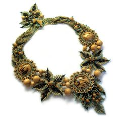 Love this - the color the texture -everything - I need to learn how to make flowers in 2012.  From My Lovely Beads.