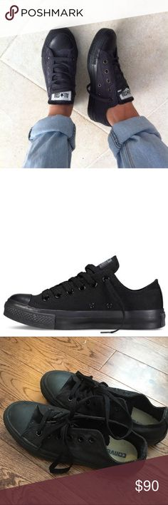 reputable site aac0d 3503f All Black Canvas Converse All black converse in a women s 7  men s 5! Only