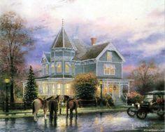 thomas kinkade paintings | Thomas Kinkade Paintings, Thomas Kinkade Wallpapers, Art Print ...
