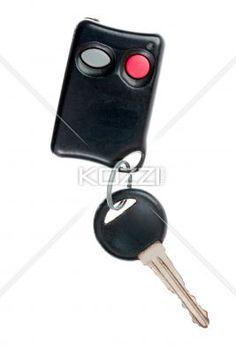 car key with a remote. - Car key with a remote isolated on white.
