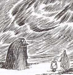 Moomin and the Groke As a child my sonwas very afraid from the Groke...