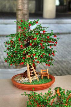 ~~Beaded apple tree bonsai by Jacopo De Angelis~~