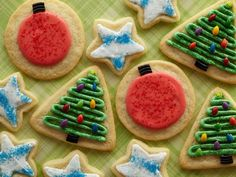 Picture of Jennifer's Iced Sugar Cookies Recipe  LUv the chocolate covered sunflowers as Christmas lights!