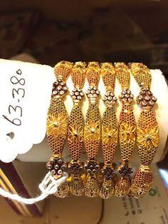 Full Casting Set New Design 2016 Latest Design Light Wait 21 Carat Gold Bangles Gold Bangles Design, Gold Jewellery Design, Gold Jewelry, Jewelery, Pakistani Jewelry, Carat Gold, Bangle Bracelets, Choker, Fashion Jewelry