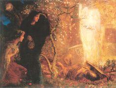 Matthew 28 - women at the tomb, Arthur Hughes ~ Pre-Raphaelite, 1893-96