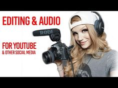 How to Get Started on Youtube & Other Social Media -- EDITING & AUDIO - YouTube Youtube Money, You Youtube, Marketing Software, Social Media Marketing, Marketing Ideas, Marketing Tools, Youtube Website, Youtube Hacks, Social Media Influencer