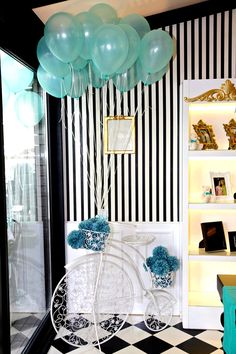 Tiffany themed baby shower