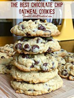 Oatmeal Chocolate Chip Cookie Recipe, Oatmeal Cookie Recipes, Chocolate Chip Recipes, Easy Cookie Recipes, Chocolate Cookies, Healthy Oatmeal Cookies, Chocolate Chocolate, Brownie Recipes, Cookies With Oatmeal