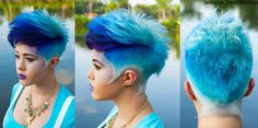 blue short hair- I love the planned shade variation within a color. Reminds me of a blue jay.