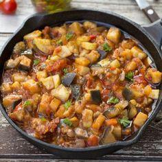 Hearty Zucchini Eggplant Stew