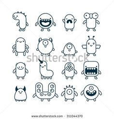 Simple monster drawings set of cute simple cartoon monsters monster truck drawing doodle monster monster sketch Doodle Monster, Monster Sketch, Monster Drawing, Cute Monsters Drawings, Easy Cartoon Drawings, Cartoon Monsters, Cute Easy Drawings, Cartoon Drawing For Kids, Cartoon Cartoon
