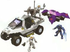 Halo Wars Mega Bloks Set #96805 UNSC Rocket Warthog Artic White by Mega Brands. $69.99. 13.5 x 2 x 11.2. Highly detailed models. Fully articulated figures. Active suspension and M41 light anti-aircraft gun. Includes 2 UNSC Spartans,1 Covenant Elite and 1 Covenant Battle turrant. * Buildable UNSC Light AntiArmor Vehicle and Covenant Rapid Assault Vehicle with 222 pieces    * Allnew arctic white blocks for subzero camouflage    * 4 realworking detailed wheels and treads    * ...