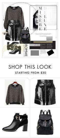 """""""Contrast Trim Ribbed Sweatshirt"""" by luxthrill ❤ liked on Polyvore featuring Isabel Marant and Ted Baker"""