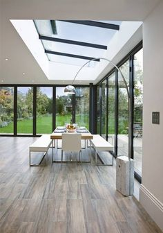 Conservatory design, pictures, ideas, inspiration homify - modern conservatory by Concept Eight Architects Homifity living ideas - New Homes, House Extension Design, House, Modern Conservatory, Skylight Design, Modern House Design, Home, Conservatory Design, House Exterior