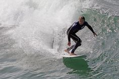 A recreational surfer enjoys the sport on March 20 2014 in Marina del Rey California
