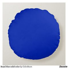 Royal blue solid color round pillow Custom Pillows, Decorative Pillows, Soft Pillows, Throw Pillows, Blue Cushions, Round Pillow, Pillow Room, Blue Aesthetic, Cobalt Blue