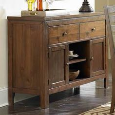 Sideboard buffet with rustic style