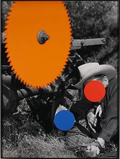 Radial Saw (Orange): With Two Person Fight (Blue and Red)  John Baldessari  2004