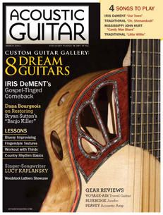 """More on the Bourgeois """"Banjo Killer"""" restoration - Bluegrass Today Acoustic Guitar Magazine, Bluegrass Music, Banjo, Restoration, Songs, Guitar Reviews, March 2013, Magazine Covers, Guitars"""