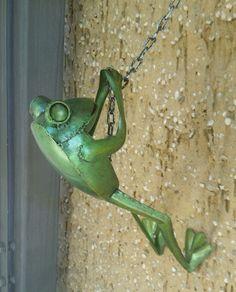 Blechfigur Frosch Garten Dekoration Wandschmuck NEU