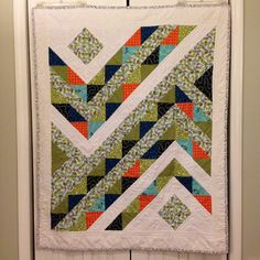 modern quilt half square triangles