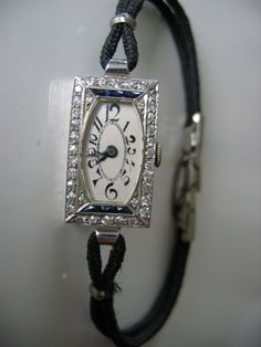 Vintage 1930's Art Deco Diamond Watch